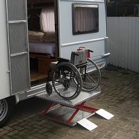 rolstoel caravanlift
