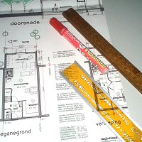 bouwtekening en uitvoering